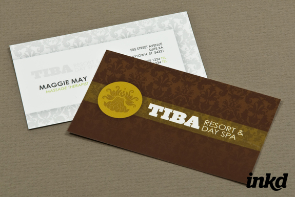 exclusive spa business card te by inkddesign - Spa Business Cards
