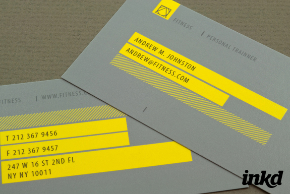 Personal Trainer Business Card by inkddesign on DeviantArt
