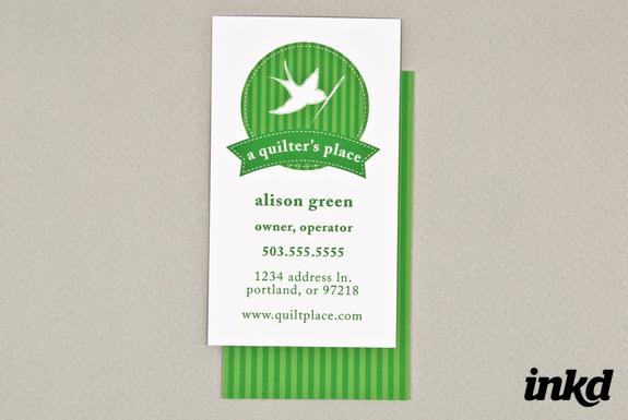 quilt shop business card by inkddesign on deviantart. Black Bedroom Furniture Sets. Home Design Ideas