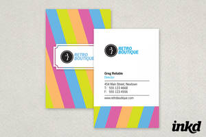 Retro Boutique Business Card by inkddesign
