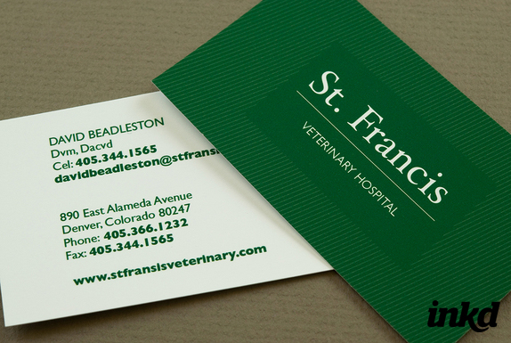 Green Veterinary Business Card by inkddesign on DeviantArt