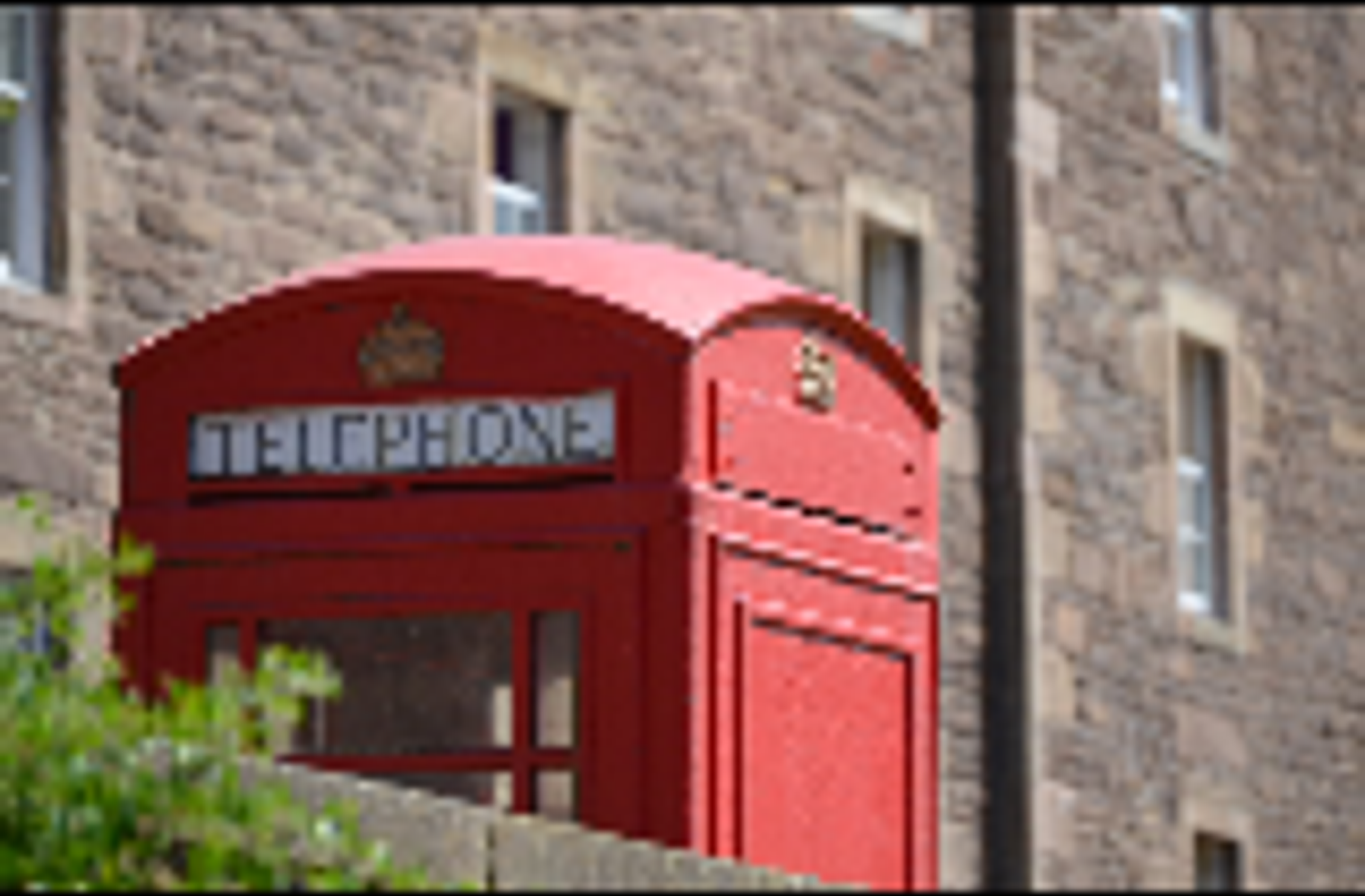 Red telephone box by MairStudio