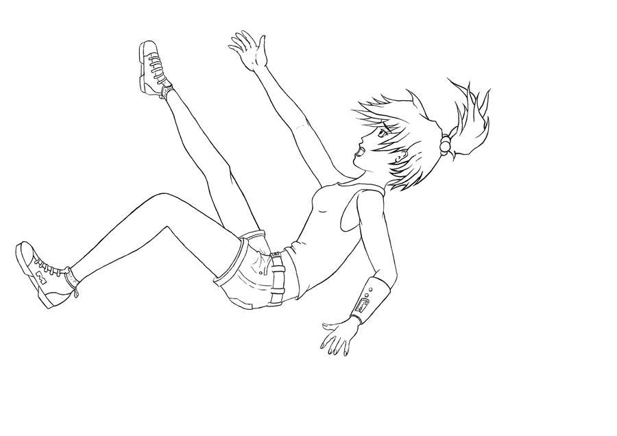 Girl Falling Drawing Girl Falling Drawing Tumblr