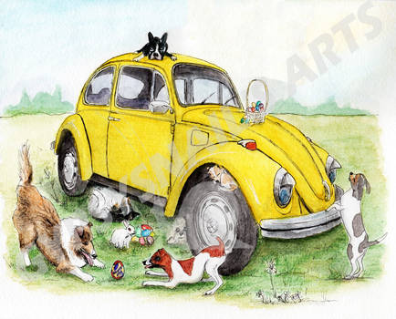Dogs Adventure with Taxi Bug - Easter