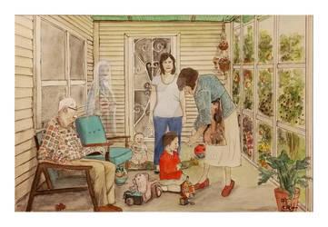 Grandparents Porch - an almost self portrait
