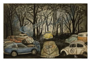 Car Cemetery I - a Volky Bug's Nightmare