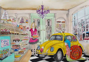 Taxi Bug in Cake Shop - Taxi's birthday