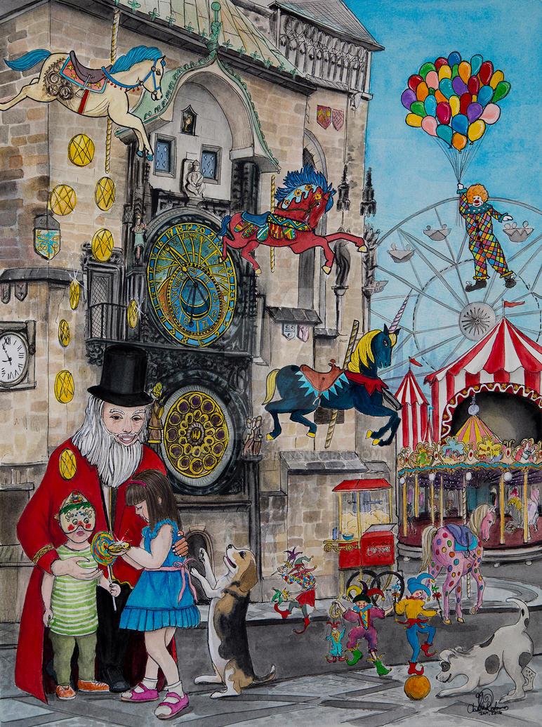 Astrological Clock by gypsysnail