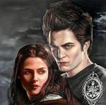Twilight oil painting