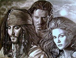 Pirates pencil drawing by moisessurielart