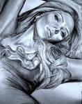 Scarlett Johansson pencil drawing