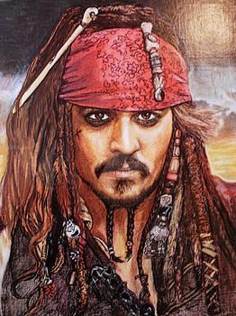 Jack Sparrow - crayola crayons, sharpie