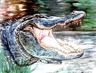 Gator oil painting