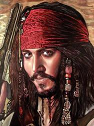 Jack Sparrow oil painting version 2