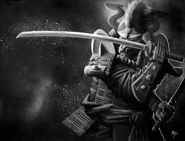 Wolf Samurai by Makowh