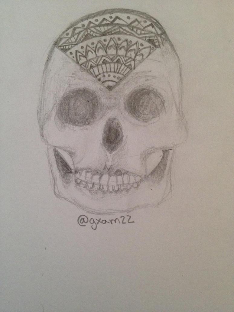 Skull Sketch in Pencil by gxam22