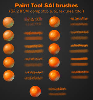 Paint tool SAI brushes (SAI/SAI2)