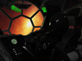 TIE fighter interior by melkorius