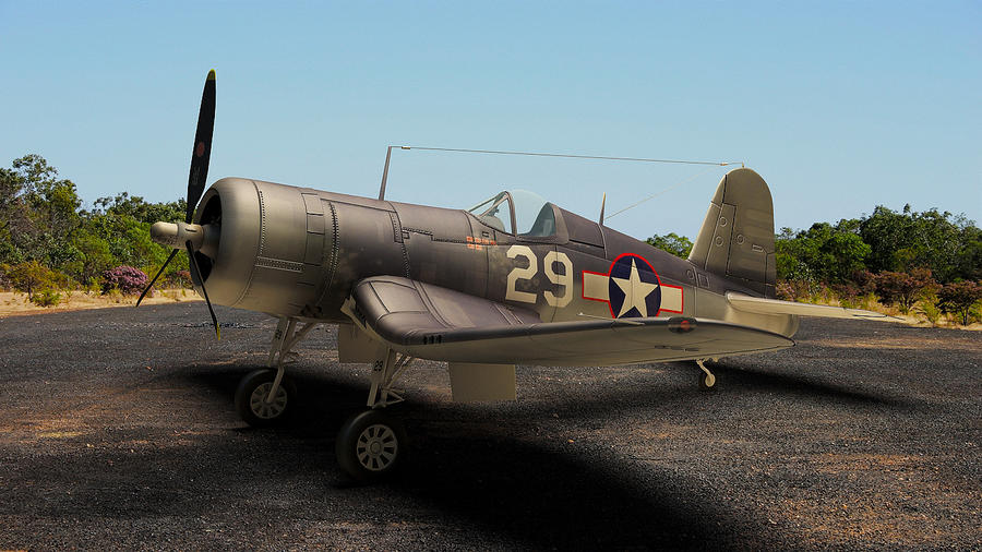 1940 Vought F4U Corsair by melkorius