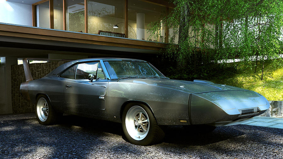 1969 Dodge  Charger Daytona Hemi by melkorius