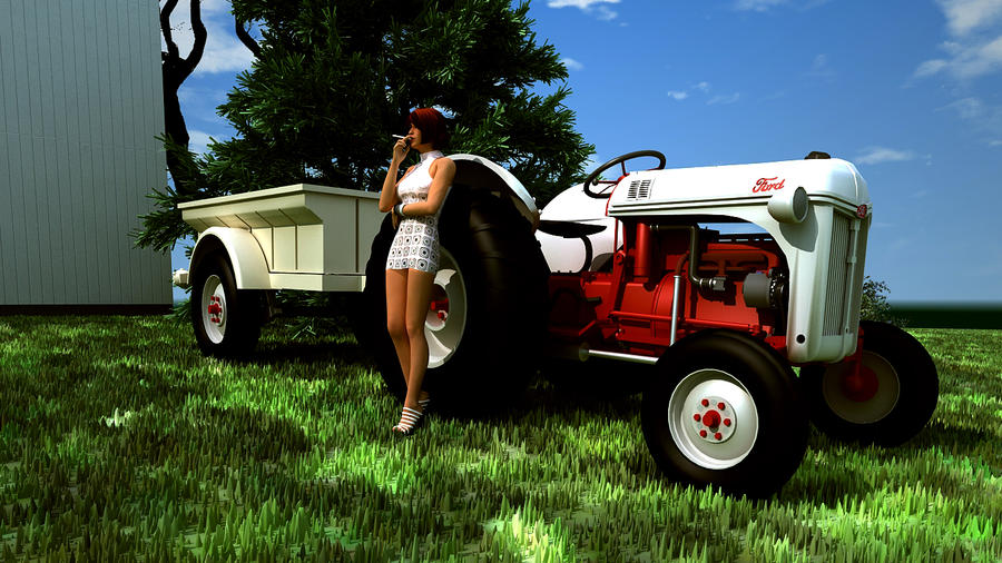 8n Ford Art : Ford n tractor by melkorius on deviantart