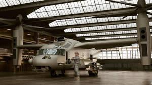 1989 Boeing Vertol AV-22-LSOC Ghost by melkorius