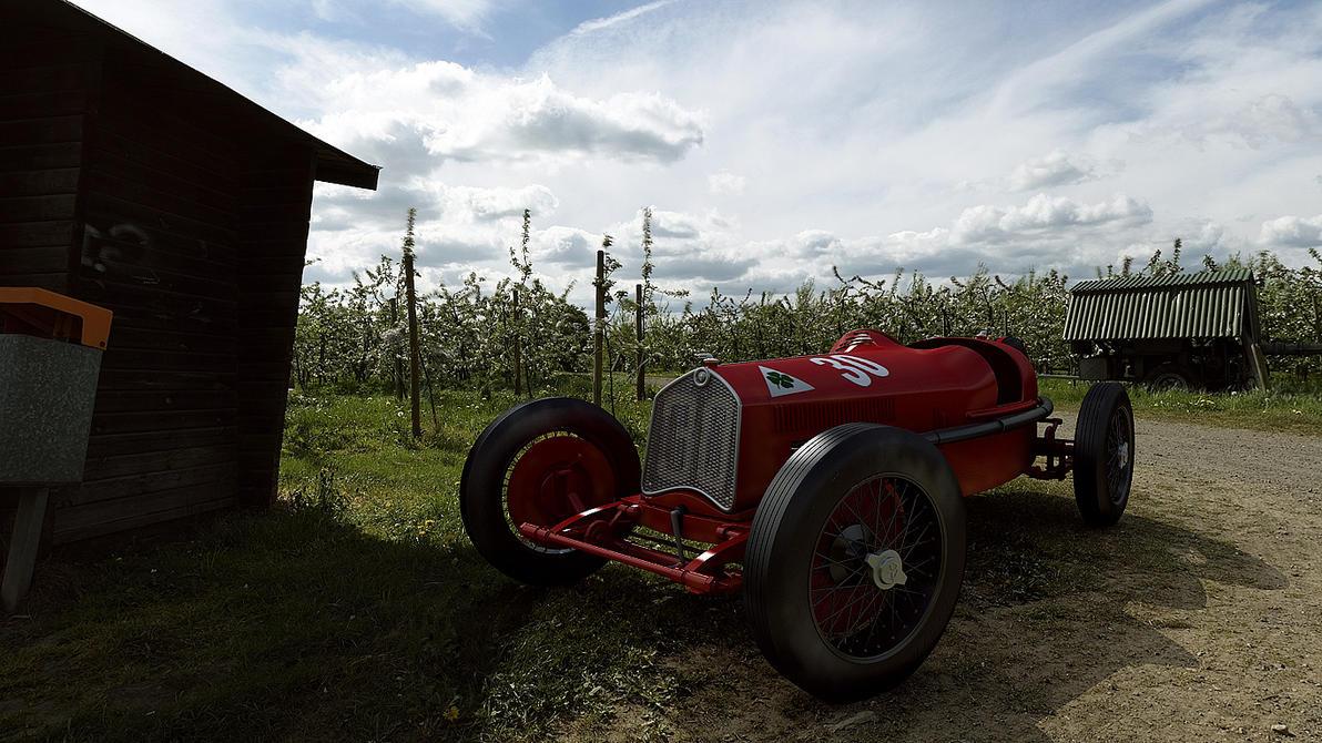 1930 Alfa Romeo P2 Targa Florio by melkorius