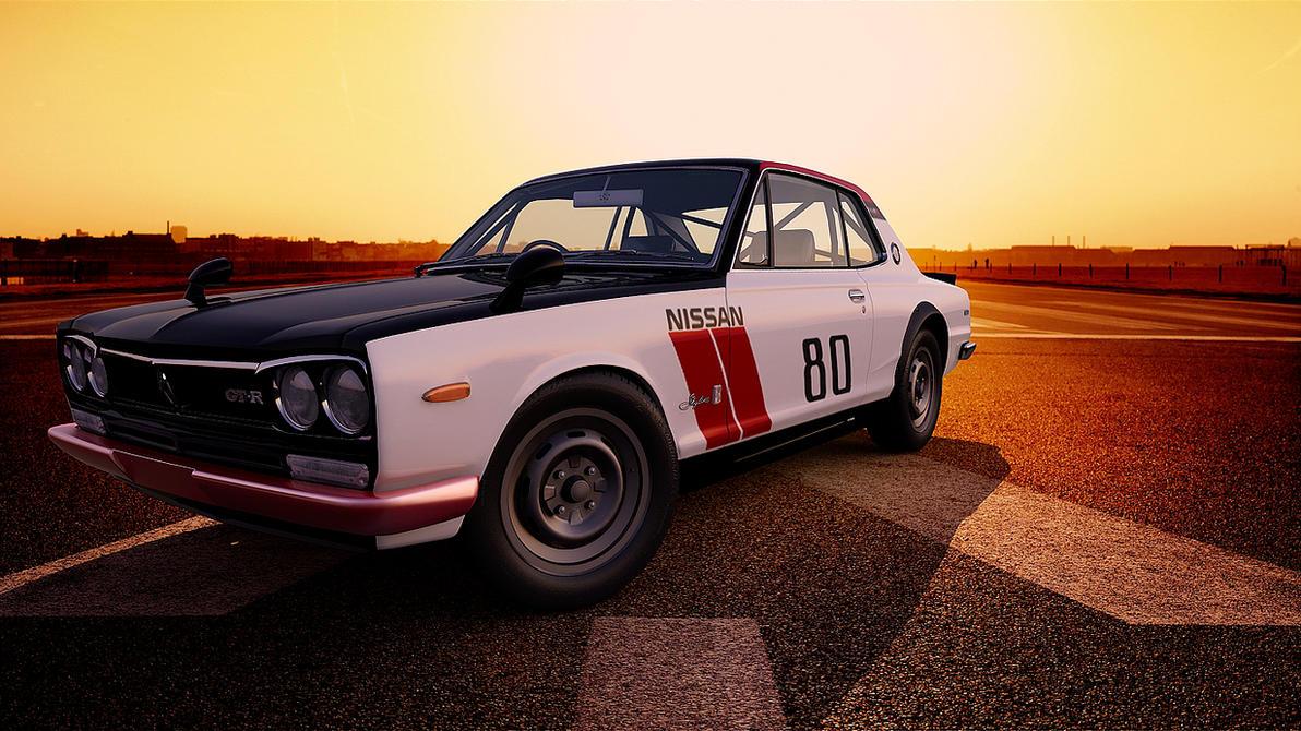 1971 Nissan Skyline 2000 GT-R by melkorius