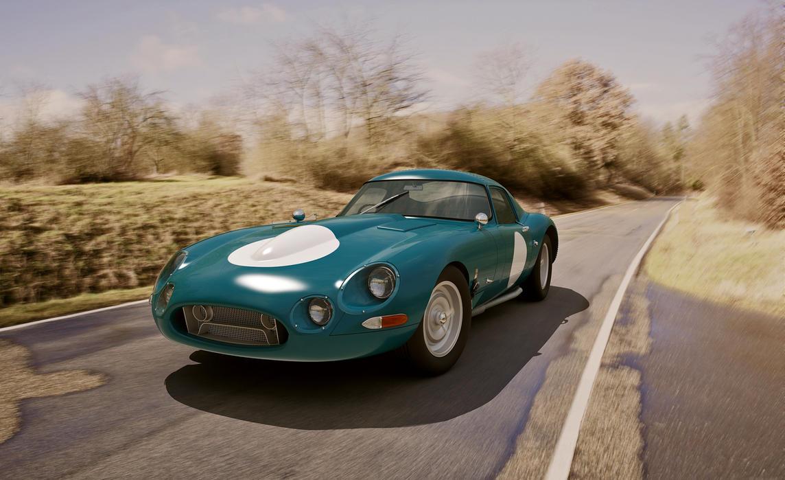 1963 Jaguar E-type Lightweight by melkorius