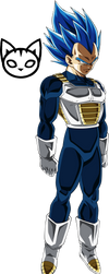 Vegeta (Super Saiyan Blue) SSB Evolved Palette by TheTabbyNeko