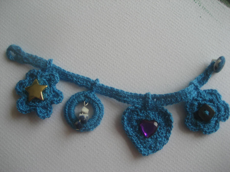 crochet bracelet with charms by crochetworkshop on deviantart