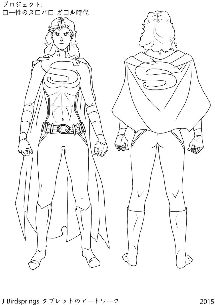 Unity Line Art Map : Project supergirl era of unity karazorel line art by j