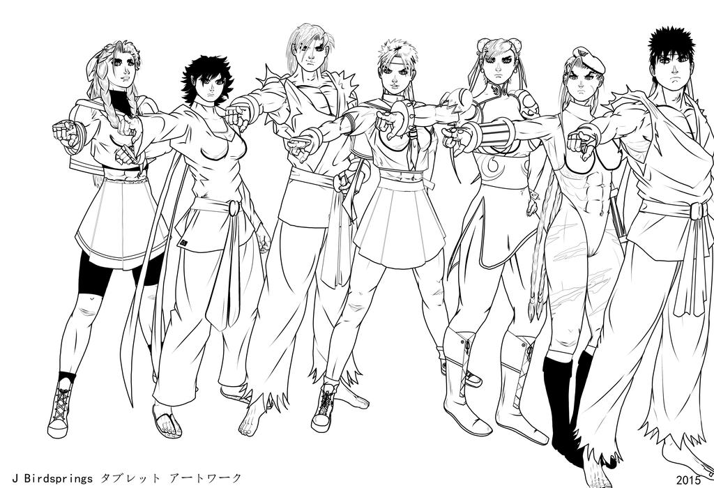 Street Fighter World Class All In-LINE ART by J-BIRDSPRINGS