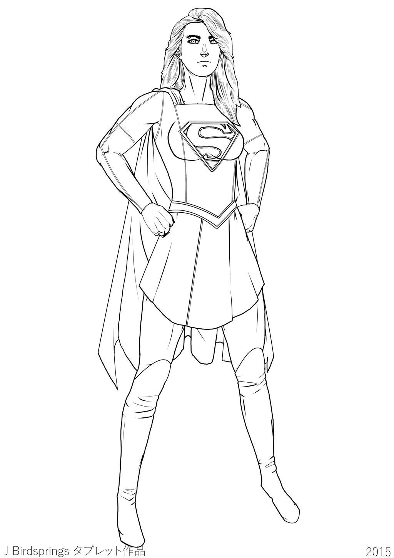 Supergirl 2015 Oct 26th Premier-LINE ART by J-BIRDSPRINGS ...