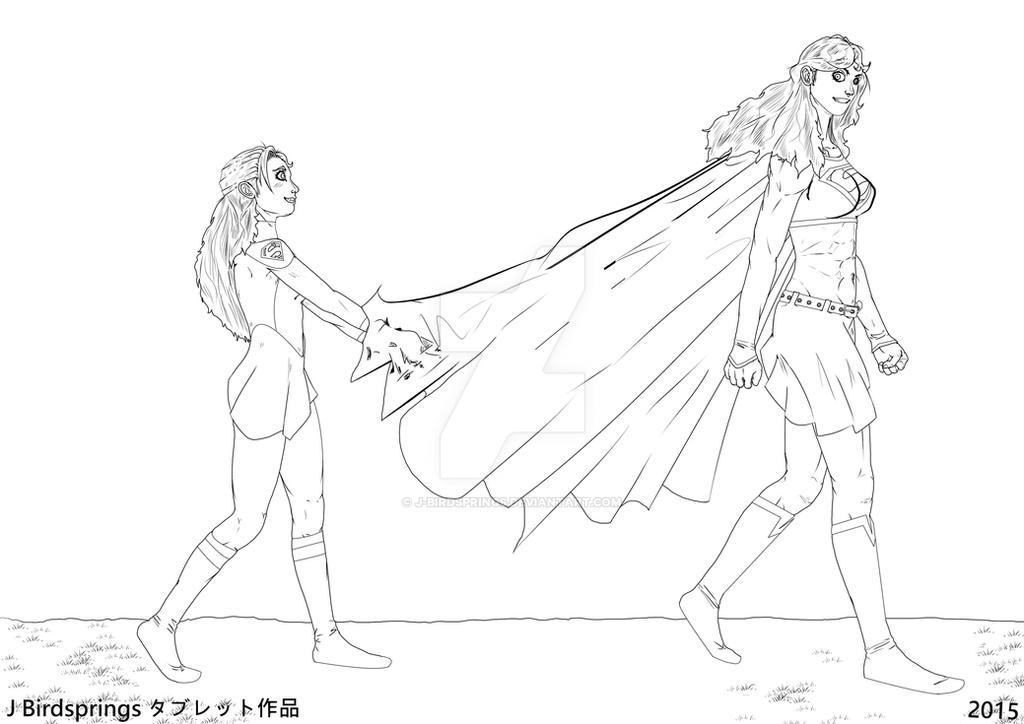 Supergirl I Never Imagined-Vote choice-LINE ART by J-BIRDSPRINGS