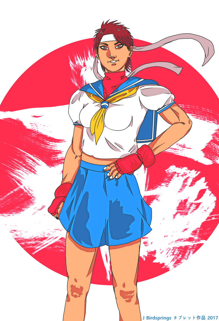 Street Fighter Sakura by J-BIRDSPRINGS