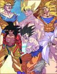 RE-All Forms of Son Goku pre 2011 by J-BIRDSPRINGS