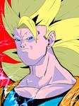 RE-Angry Super Saiyajin 3 Son Goku by J-BIRDSPRINGS