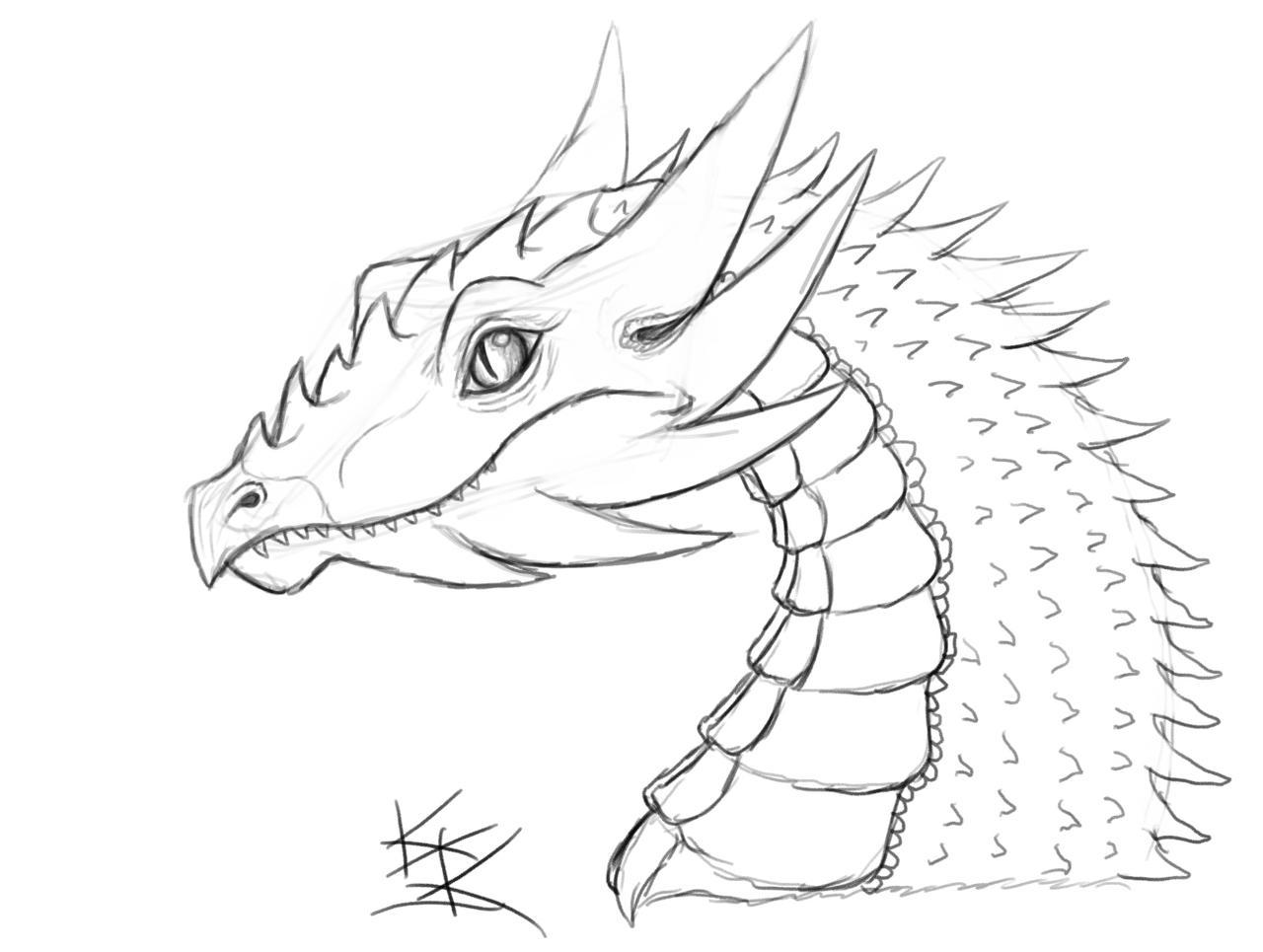 dibujo de dragones: