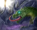 Big dragon in a cave