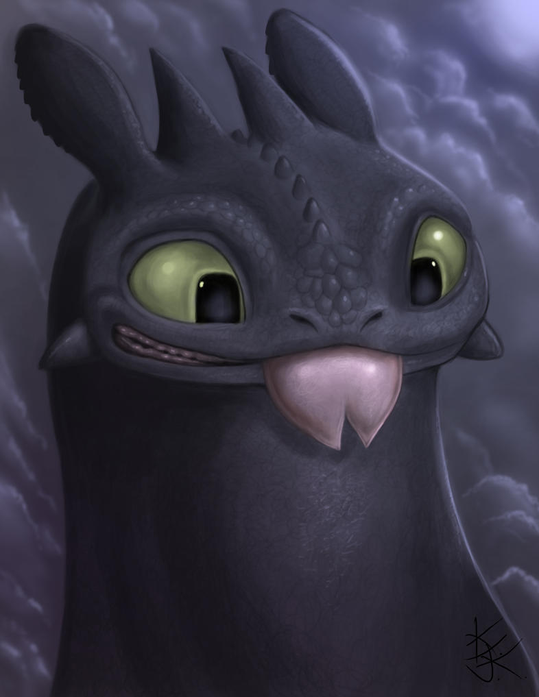 Toothless Night Fury Drawing