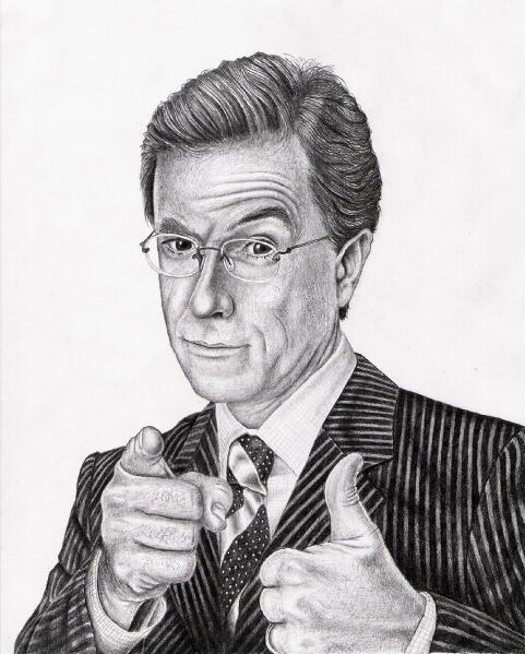 Stephen Colbert Portrait by Techdrakonic
