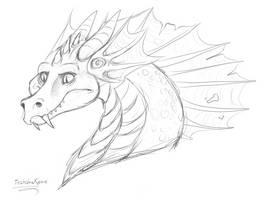 A dragon doodle
