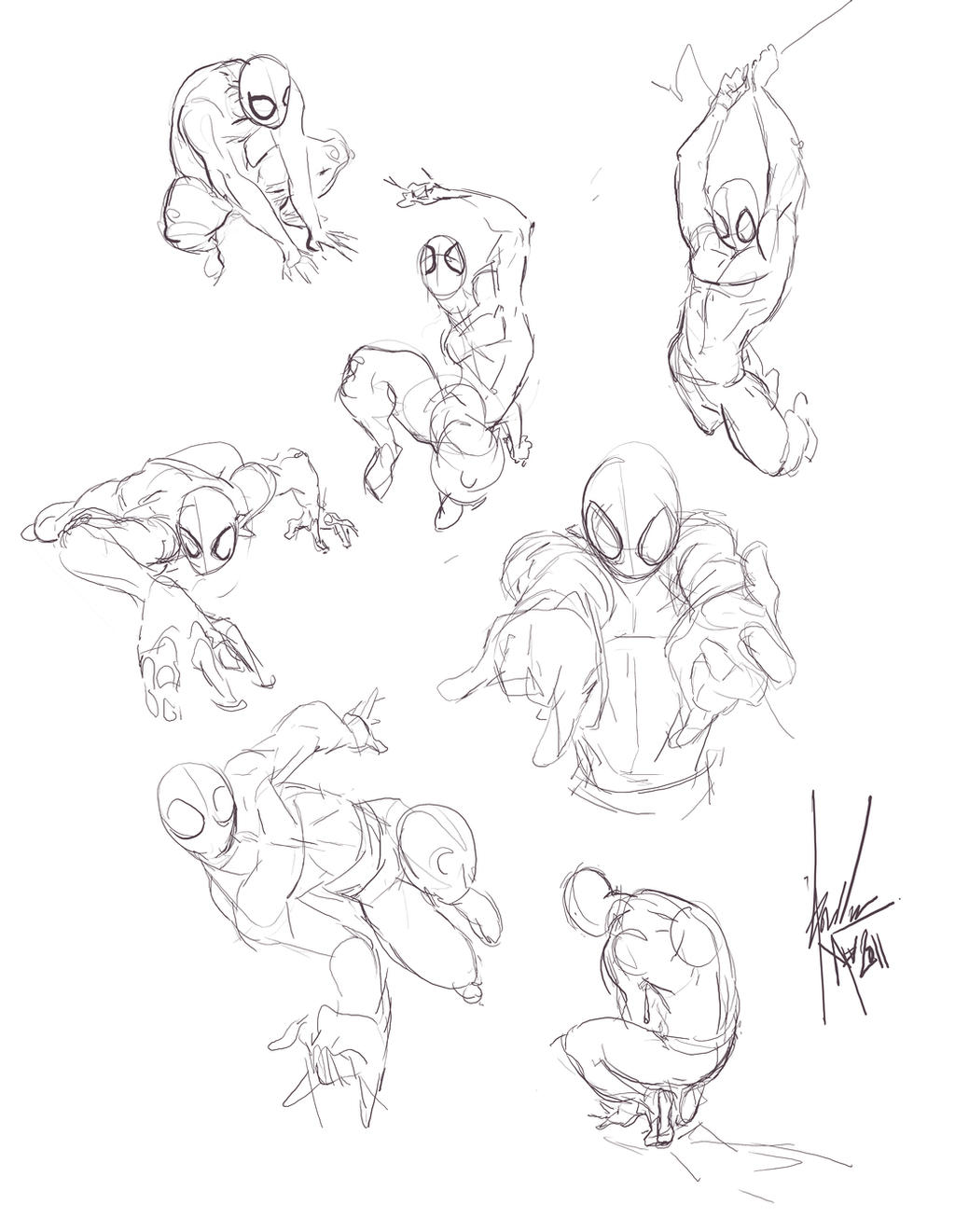 how to draw dynamic poses