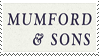 Mumford and Sons Stamp by NotKing