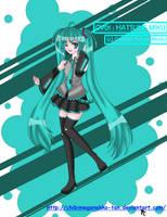 Vocaloid2 CV01 - Hatsune Miku by chibimeganekko-tan