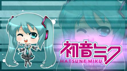 Vocaloid - Chibi Hatsune Miku by chibimeganekko-tan