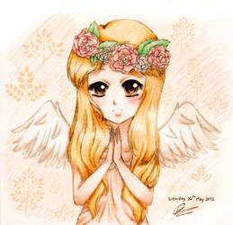 Praying Angel by chibimeganekko-tan