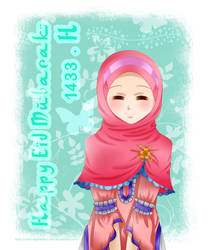 Eid Mubarak 1433 H by chibimeganekko-tan