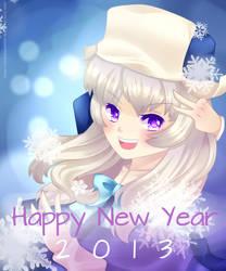 Happy New Year!!! 2013 by chibimeganekko-tan
